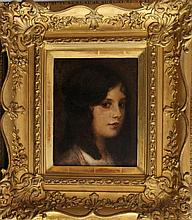 Eduard Veith (1858-1925), Portrait of a young girl