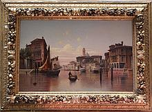 Karl Kaufmann (1843-1905), Large view of Venice wi