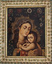 South American School, Maria with Child surrounded