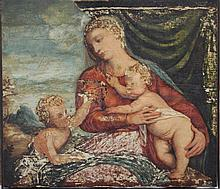 Venetian School 16th Century, Maria with Jesus and