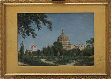 Guiseppe Barison (1853-1930)-attributed, The Palacio de Congresos in Buenos