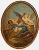 François Boucher (1703-1770)-school of, Allegory of love, oil on canvas, la