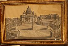 Central Italian School 18th Century, Architectural view of Saint Peter, bla