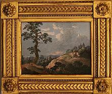 Louis-Nicolas Van Blarenberghe (1716-1794)-attributed, Landscape with trave