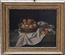 Louise Moillon (1610-1696)-attributed, Still life with peaches and plums in