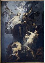 North Italian or Venetian  School 18th Century, Allegory with Chronos, putt
