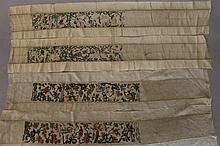 14 sewn and embroidered chinese costume grinds,bands and Sleeve parts, Silk
