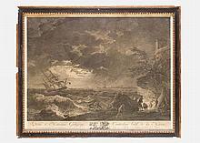 Claude Joseph Vernet (1714-1789), Engraving of the painting of Monsieur God