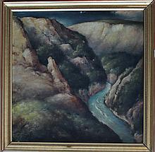 Ferdinand Michl (around 1915), River in a moumtain landscape, signed and da