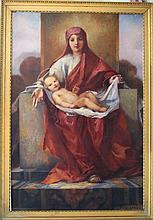 Hugo Löffler (1859-1935) Maria with Jesus child, o