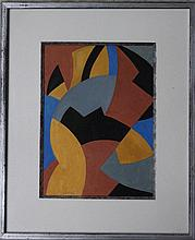Alfred Reth (1884-1966), Cubistic composition. Wat