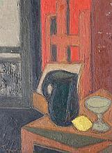 Artist 20th Century, Cubist still life, oil on boa