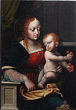 Joos van Cleve (1485-1541), Maria with child and c