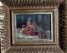 Hans Zatzka (1859-1945), Motherlove, oil on canvas