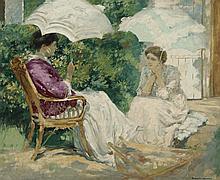 RUPERT BUNNY 1864 - 1947, CHATTING, c1910-15