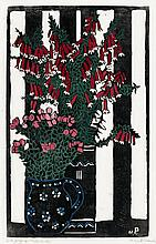 MARGARET PRESTON 1875 - 1963, NATIVE FUCHSIA, 1925, hand-coloured woodcut