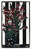 MARGARET PRESTON 1875 - 1963, NATIVE FUCHSIA, 1925, hand-coloured woodcut