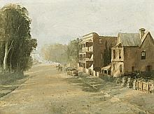 LLOYD REES 1895 - 1988, NEAR PARRAMATTA, c1924, oil on canvas on board