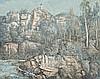 LLOYD REES 1895 - 1988, SOUTH COAST FACADES, 1966, oil on canvas