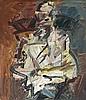 FRANK AUERBACH born 1931, British, DAVID LANDAU SEATED, 1992, oil on canvas