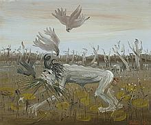 ARTHUR BOYD 1920 - 1999, NEBUCHADNEZZAR EATING GRASS, 1972, oil on canvas