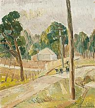 GRACE COSSINGTON SMITH 1892 - 1984, LANDSCAPE AT LAKE MACQUARIE, 1942, oil on pulpboard
