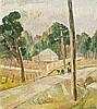GRACE COSSINGTON SMITH 1892 - 1984, LANDSCAPE AT LAKE MACQUARIE, 1942, oil on pulpboard