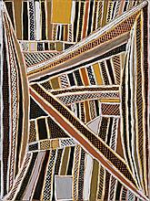 JEAN BAPTISTE APUATIMI 1940 - 2013, PANJKUPANI JILAMARA, 2008, natural earth pigments and synthetic binder on canvas
