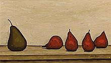 JOHN BRACK 1920 - 1999, PEARS, 1957, oil on canvas