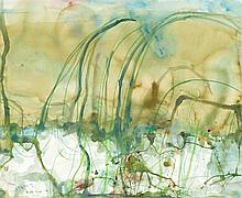 JOHN OLSEN born 1928, THE LITTLE RIVER, watercolour and crayon on paper