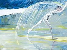 ARTHUR BOYD 1920 - 1999, NARCISSUS RUNNING ON A SANDBANK, 1976, oil on canvas