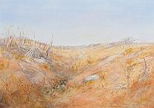 ARTHUR BOYD 1920 - 1999, WIMMERA LANDSCAPE, c1963, oil and tempera on composition board