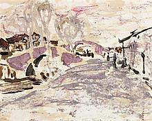 IAN FAIRWEATHER 1891 - 1974, SOOCHOW - TWO BRIDGES, 1933, oil on paper on board