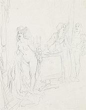 NORMAN LINDSAY 1879 - 1969, STUDY FOR A WATERCOLOUR, c1930, pencil on paper