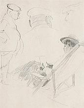 NORMAN LINDSAY 1879 - 1969, ON BOARD, 1909, pencil on paper