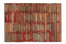 Rosalie Gascoigne 1917 - 1999, ROSE RED CITY 4, 1991-93 painted and sawn timber on composition board