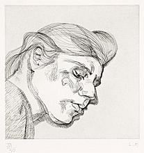 Lucian Freud 1922 - 2011 British, IB, 1984 etching on paper