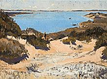 Horace Trenerry 1899 - 1958, LANDSCAPE WITH SEA (COORONG), c1928 oil on canvas
