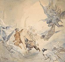 Norman Lindsay 1879 - 1969, THE DREAM, 1923 watercolour on paper