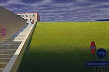 JEFFREY SMART, (1921 – 2013), VIA LEOPARDI, 2004, oil on canvas