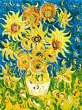 JOHN PERCEVAL, (1923 – 2000), SUNFLOWERS FOR VINCENT, 1994, oil on canvas