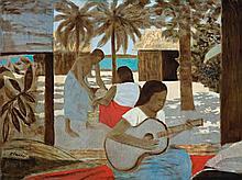 RAY CROOKE, born 1922, ISLAND MUSIC, oil on canvas on board