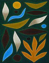 JOHN COBURN, (1925 – 2006), SECLUDED GARDEN, 1985, oil on canvas