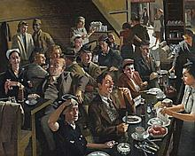 HERBERT BADHAM, (1899 - 1961), SNACK BAR, 1944, oil on pulpboard