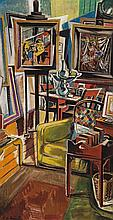 ROY DE MAISTRE, (1894 – 1968), STUDIO INTERIOR, oil on canvas