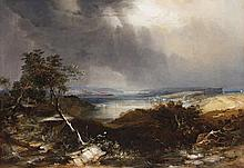 CONRAD MARTENS, (1801 – 1878), STORM OVER NORTH HEAD, 1856, watercolour heightened with gouache and gum arabic on paper