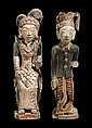 PAIR OF STANDING FIGURES - BALI, 1920s-1930s