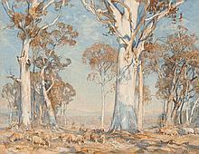 HANS HEYSEN, 1877 – 1968, GOLDEN SUMMER, HAHNDORF, 1911, watercolour on paper