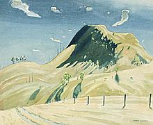 KENNETH MACQUEEN, 1897 – 1960, HILLSIDE , watercolour on paper