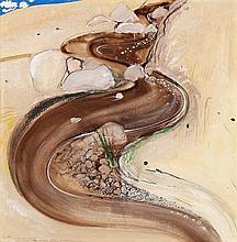 BRETT WHITELEY,  1939 – 1992, 2PM LIGHT EARLY JANUARY 1984, 1984, mixed media on card on board